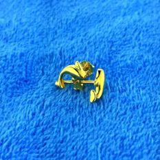Warna Emas S925 Emas Warna Sterling Perak Berlapis Kuning Sterling Perak Anting
