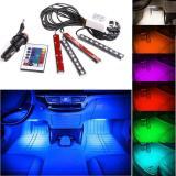 Harga Warna Warni 9 Led Dasbor Mobil Interior Lampu Lantai Strip Mengendalikan Remote Nirkabel Lengkap