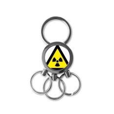 Simbol Peringatan Kuning Hitam Ionisasi Radiasi Segitiga Tanda Tandai Logo Pemberitahuan Logam Kunci Rantai Cincin Mobil Gantungan Kunci Creative Trinket Gantungan Kunci kebaruan Item Terbaik Pesona Hadiah-Internasional