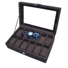 Watch Box / Tempat Jam / Kotak Jam Tangan Isi 12 - Full Cokelat