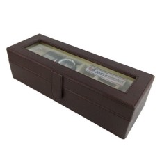 Watch Box / Tempat Jam / Kotak Jam Tangan Isi 6 - Cokelat Cream