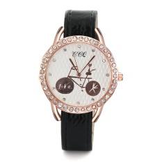 Watch wholesale Korean fashion watch casual Pu watch with a watch Alibabablack - intl