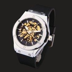 Jual Beli Watch Jam Tangan Es Pria Merek Mewah Olahraga Kerangka Militer Jam Tangan Jam Tangan Es Otomatis Wind Mechanical Watch Jam Tangan Tali Karet Di Tiongkok