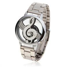 Review Watches Note Music Notation Metal Quartz Wristwatch Fashion White Intl Terbaru