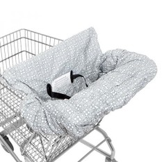 WATERPROOF 2-in-1 Baby Shopping Cart Cover & High Chair Covers with Safety Harness for Babies & Toddler (Unisex Grey) - intl
