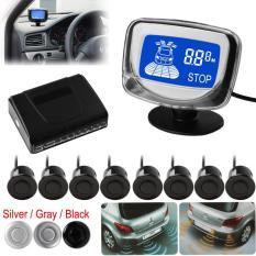 Tahan air 8 belakang dan pandangan depan mobil sensor parkir dengan tampilan Monitor (Silver )