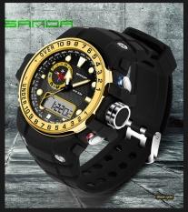 Tahan Air Dual Layar Sanda Merek Watch 399 Otomatis Perhiasan Pria Fashion Perhiasan Kualitas Atas Mens Jam Terkenal Tentara Olahraga Jam Tangan Militer-Intl