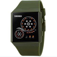 Waterproof LED WATCHES Wanita Arloji Otomatis Watch Datejust Ladies Clock Kualitas Terbaik Merek Tentara Militer Jam Chronograph (Tentara Hijau) -Intl