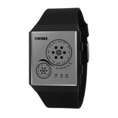 Waterproof LED WATCHES Wanita Arloji Otomatis Watch Datejust Ladies Clock Kualitas Terbaik Merek Tentara Militer Jam Chronograph (Hitam) -Intl