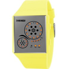 Waterproof led WATCHES women wristwatch automatic watch datejust ladies clock top quality brand army military clocks chronograph(Yellow) - intl