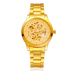 Diskon Besarmekanik Tahan Air Automatic Gold Watch Intl