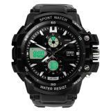 Miliki Segera Waterproof Multi Function Military S Shock Led Sports Watch Alarm Black Intl