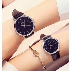 WD Fashion lover watches a Korean woman student minimalism super thin strap casual waterproof quartz watches - intl