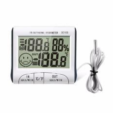 Promo Stasiun Cuaca Rumah Tangga Indoor Dan Outdoor Suhu Kelembaban Meter Suhu Display Thermometer Hygrometer Internasional Bluesky Terbaru