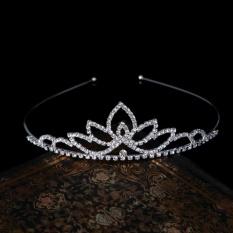 Pesta Pernikahan Bridal Tiara Putri Crown Headband Rhinestone .