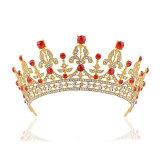 Beli Perhiasan Rambut Pengantin Pernikahan Pesta Paduan Merah Rhistone Tiara Mahkota Lengkap