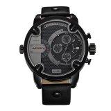 Spesifikasi Weide 3301 Waterproof Men S Boys Tombol Bulat Besar Ganda Tampilan Waktu Quartz Wrist Watch Dengan Pu Band Hitam Baru
