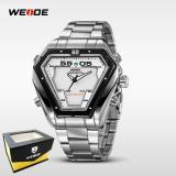 Jual Weide Japan Quartz Miyota Men Sports Watch 30M Water Resistance Wh1102 Silver White Antik