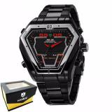 Weide Japan Quartz Miyota Men Sports Watch 30M Water Resistance Wh1102B Black Red Weide Diskon 30