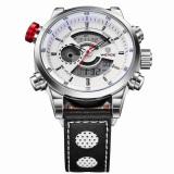 Review Obn Men Sport Watch Leather Strap Silver Wd3401 Indonesia