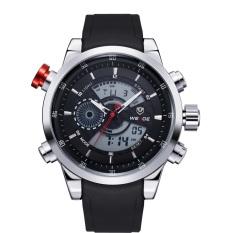 Jual Obn Men Sport Watch Pu Strap Hitam Wp3401 Branded Original
