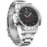 Harga Weide Olahraga Militer Watch Multifungsi Quartz Lcd Digital Jam Tangan Stainless Steel Tahan Air Pria Jam Tangan Hitam Perak Intl Asli