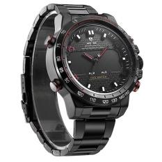 Spesifikasi Weide Olahraga Baru Militer Watch Multifungsi Quartz Lcd Digital Jam Tangan Stainless Steel Tahan Air Pria Jam Tangan Merah Internasional Bagus