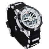 Weide Wh1104Pu Bw Pria Resin Band Quartz Digital Analog Wrist Watch Putih Weide Diskon