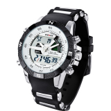 Promo Weide Wh1104Pu Bw Pria Resin Band Quartz Digital Analog Wrist Watch Putih Di Indonesia