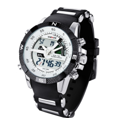 Jual Weide Wh1104Pu Bw Pria Resin Band Quartz Digital Analog Wrist Watch Putih Weide Ori
