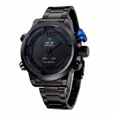 Jual Weide Wh2309 Men S Military Sports Band Digital Led Dual Time Display Jam Tangan Pria Strap Steel Band Alarm Quartz Wristwatch Wrist Watch Sporty Fashion Accessories Watch Hitam Lengkap