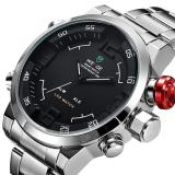 Beli Weide Wh2309 Men S Military Sports Silver Band Digital Led Dual Time Display Alarm Quartz Wristwatch Murah Di Dki Jakarta