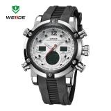 Harga Weide Wh5205 30 Meters Tahan Air Lcd Quartz Stopwatch Menjalankan Olahraga Jam Tangan Untuk Pria Putih Intl Terbaru