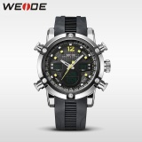 Harga Weide Wh5205 30 Meters Tahan Air Lcd Quartz Stopwatch Menjalankan Olahraga Jam Tangan For Pria Kuning Yang Murah
