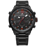 Spesifikasi Weide Wh6303 Outdoor Sports Waterproof Men S Stainless Steel Strap Watches Red Intl Murah Berkualitas