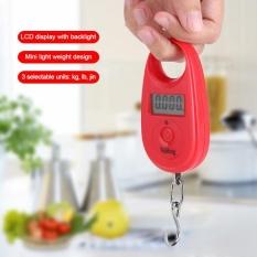 Weiheng 25Kg/5G Mini Digital Gantungan Kait Skala LCD Elektronik Saku Keseimbangan Berat (Merah) -Internasional