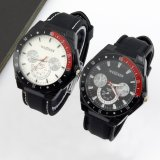 Harga Weijieer Women S Black Silicone Strap Watch 86195 Branded