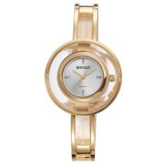 Harga Weiqin Casual Women Stainless Steel Strap Watch Water Resistant 10M W4823 Jam Tangan Wanita Golden Silver Yg Bagus