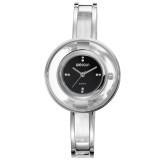 Review Terbaik Weiqin Casual Women Stainless Steel Strap Watch Water Resistant 10M W4823 Jam Tangan Wanita Silver Black