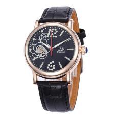 Weizhe Shenhua SHENHUA Baru FASHION LADY Rose Diamond Watches AliExpress Menjual Grosir (GoldBlack)