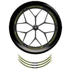 Wheel Rim Sticker Yellow Bright Jawa Barat