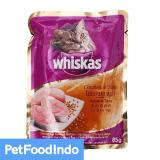 Whiskas Pouch Chicken Tuna 85 Gr 12 Pcs Asli