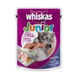 Harga Whiskas Pouch Junior Kitten Mackerel 12 Pcs 12 X 85 G Whiskas Asli