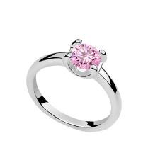 Emas Putih Berlapis AAA CZ Batu WY Bride Cincin Perhiasan untuk Wanita (Pink)