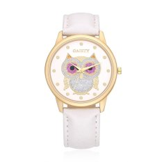 Putih Online Bermerek Watches untuk Womens Wanita Fashion QUARTZ Alloy Glass New Tanpa Tag Paduan Analog 4 Cm Round- INTL