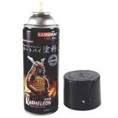 Whiz Samurai Automotive Motorcycle Car Paint - Cat Semprot Motor Mobil Spray Aerosol Paint - Metallic Black 1139
