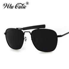 YANG CUTIE 2017 Pria Polarized AO Sunglasses MILITER Amerika Lensa Optik James Bond Caravan Sun Glasses Hot Ray Shades OM399 -Intl