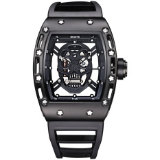 Jual Grosir Skone 3987 Kapten Kapten Skull Quartz Men Watch Jam Tangan Es Merek Pria Militer Silicone Men Fashion Casual Watch Jam Tangan Murah Antik