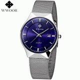 Review Toko Grosir Wwoor Tahan Air Tali Baja Pria Kasual Sport Wrist Watch 8016