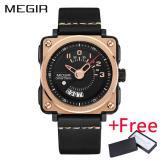 Harga Wholesaler Megir Ml2040G Men Watch Jam Tangan Fashion Quartz Watch Jam Tangan Es Clock Men Leather Strap Military Watch Jam Tangan Dan Spesifikasinya